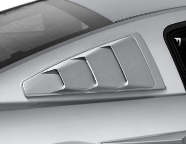 2013-2014 Mustang Quarter Window Louvers