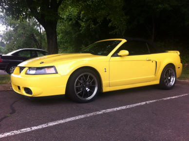 Reproduction Style Wheels on a SN95 Mustang
