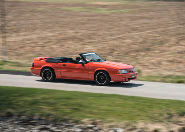 1993 Convertible Fox Body on the Road