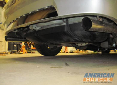V6 Mustang Dual Exhaust Conversion Installed