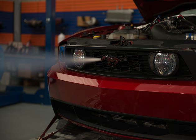Mustang Purging the Nitrous Lines through the Pony's Nose