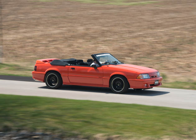 1993 Mustang Foxbody Convertible Cruising Down the Road