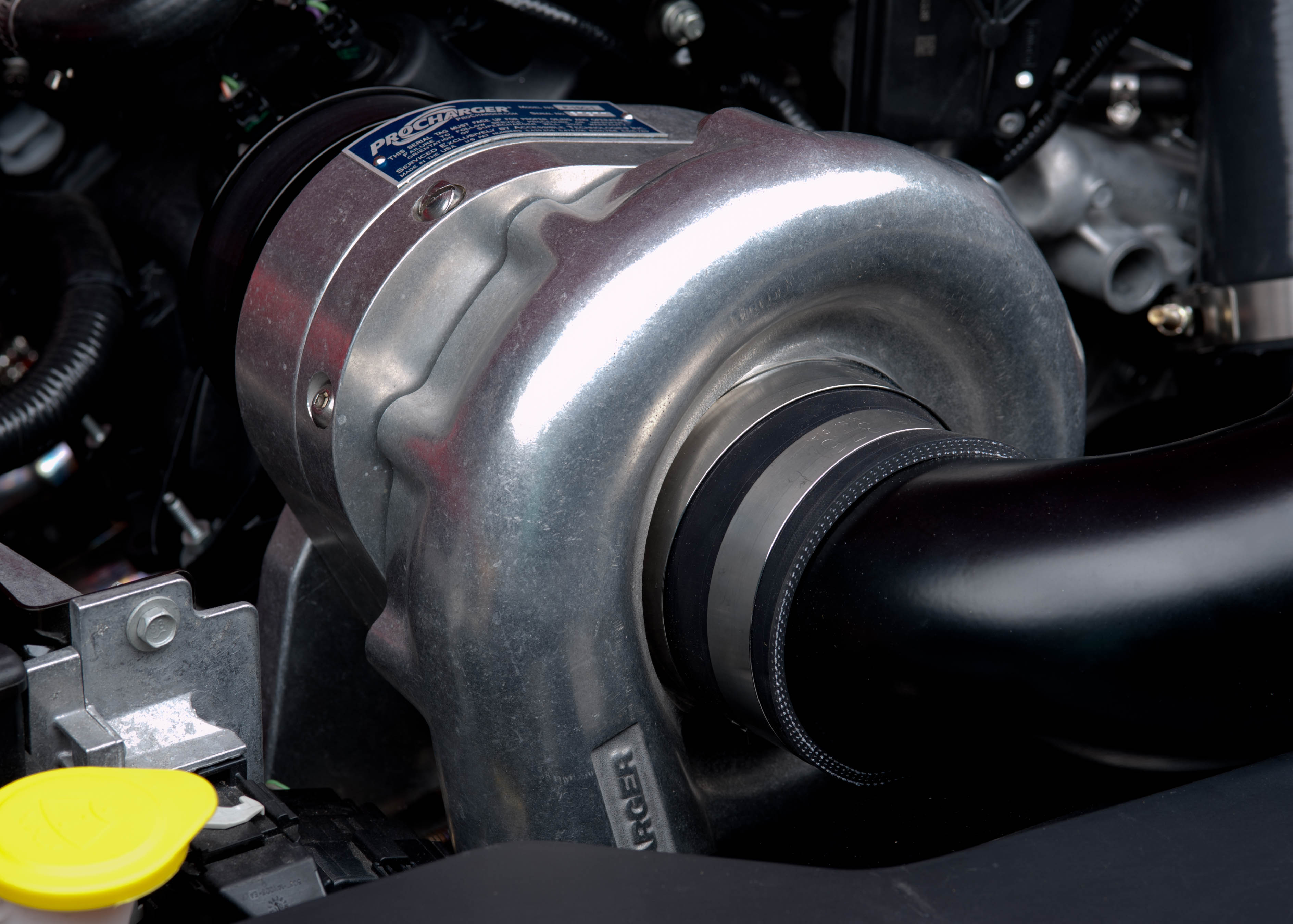 Procharger Centrigual Supercharger Installed on a Mustang