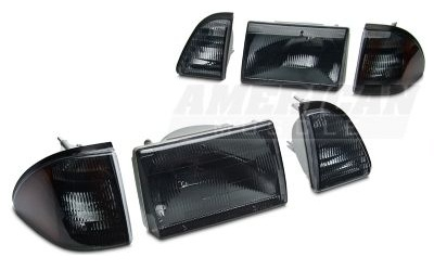 Smoked 3-Piece Fox body Headlights