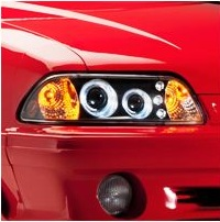 Halo LED 1-Piece Fox body Headlight