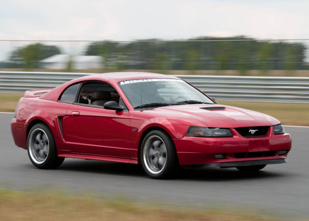 2000 GT Mustang at the Track