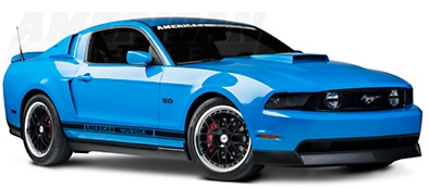 Ford Mustang With Aftermarket Rims