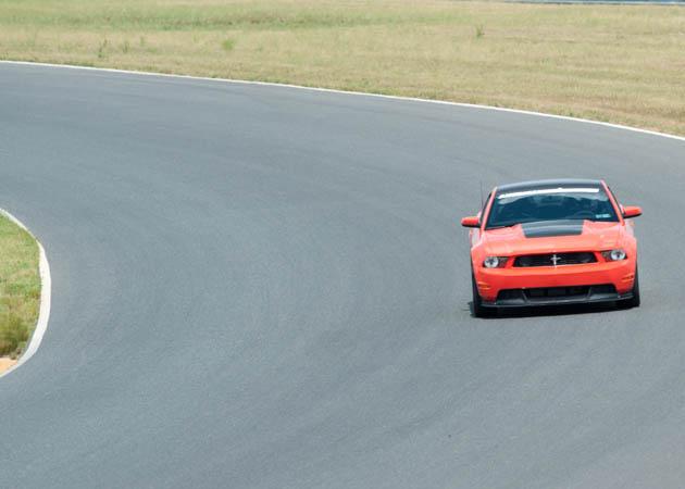2012 Boss Mustang Coming Around a Corner