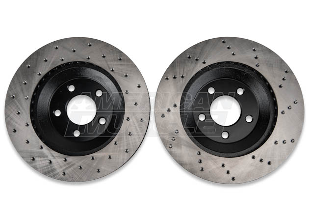 Drilled Mustang Rotor Pair