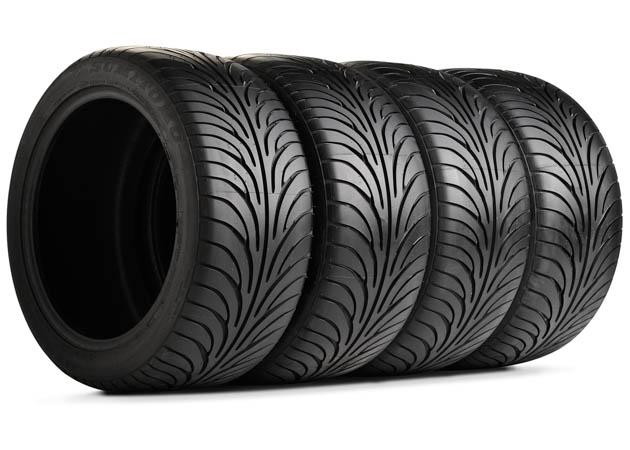 Four Sumitomo HTR Z II Tires