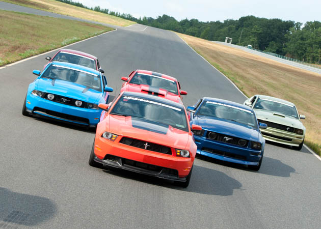 AmericanMuscle Mustangs at the Track