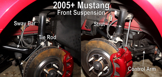 S197 front suspension