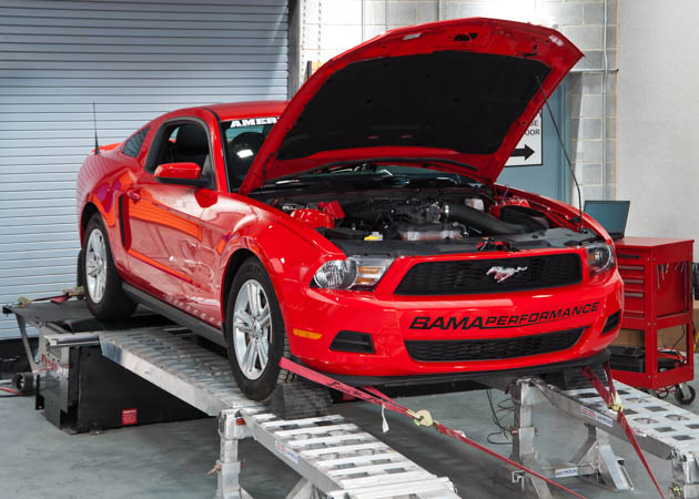 2010-2014 BAMA Mustang Getting Tuned Up on the Dyno