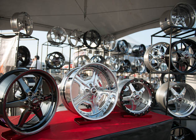 Collection of Mustang Rims at the 2014 AM Show
