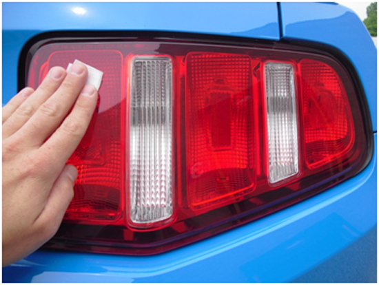 Mustang light covers 10 11 installation instructions peel the backing from the adhesive tape on the light cover and position over factory tail light making sure that the lens is fully covered aloadofball Choice Image