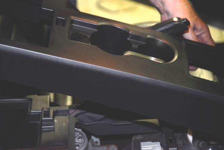 How To Install A Premium Black Leather E Brake Boot Red Stitch On A 2005 2009 Mustang