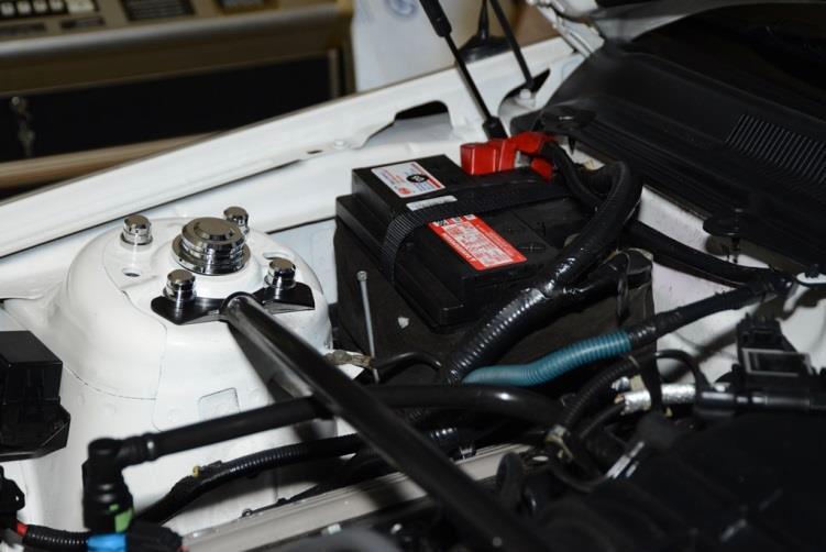 Prior To Installing The Hold Down Here Is What Battery Looks Like