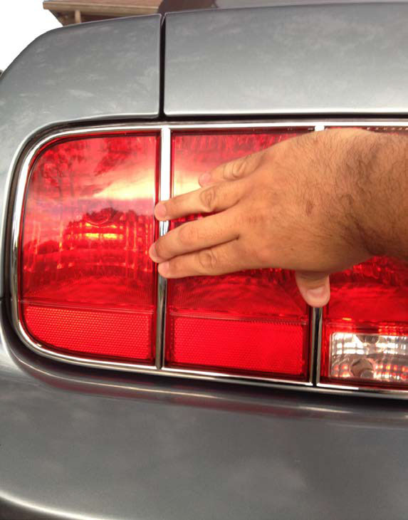 How to install tail light trim on you 2005 2009 mustang americanmuscle mustang tail light trim 010g aloadofball Image collections