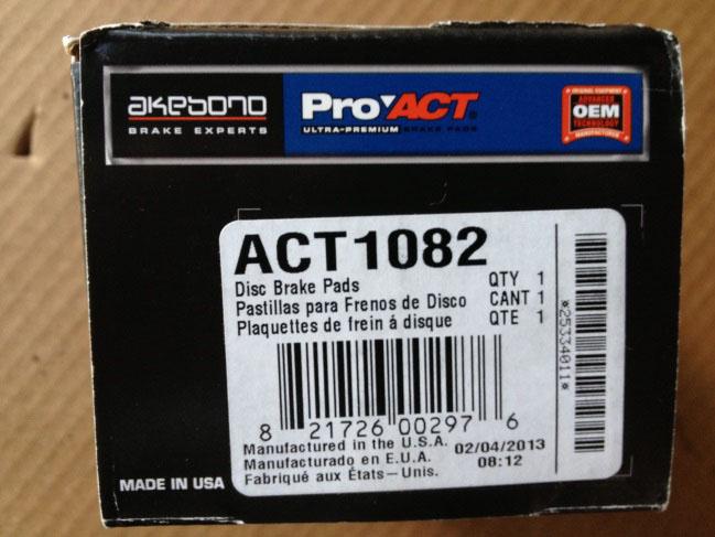 How To Install Akebono ProAct Ultra Premium Ceramic Rear