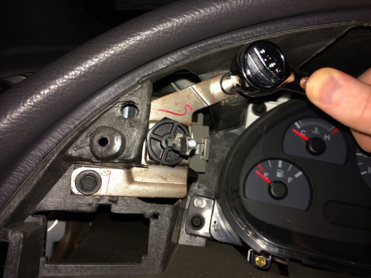How To Install A Replacement Headlight Switch Knob On Your 1994 2004 1999 Mustang Fuel Filter Rep Replace The Two Bolts Inside Dash