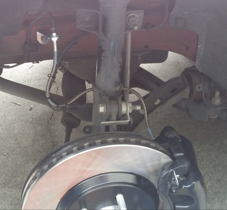 Steel Braided Brake Lines Installed : How to install a russell stainless steel braided brake