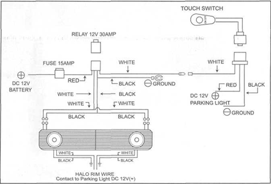 mustang grille w gt style angel eye fog lights (\u002705 \u002709 04 Mustang Wiring Diagram
