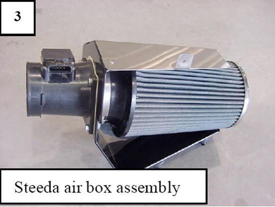 9604 gt cold air intake 03 1996 2004 mustang gt steeda cold air intake installation guide