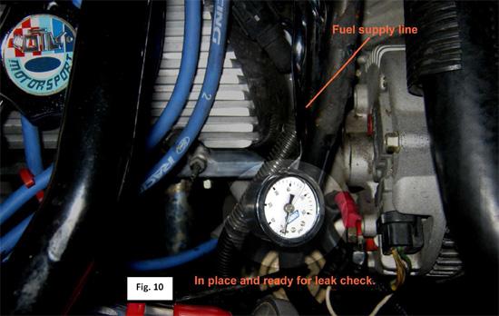 BBK Liquid-Filled Fuel Pressure Gauge ('86-'93