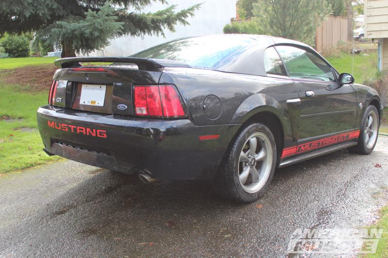 1999-2004 Mustang with Red Bumper Insert Letters