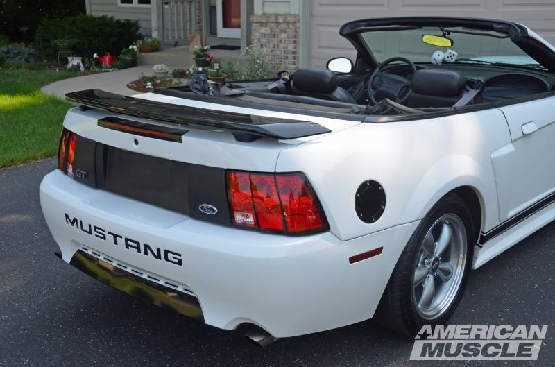 Black GT Spoiler on a 1999-2004 Mustang