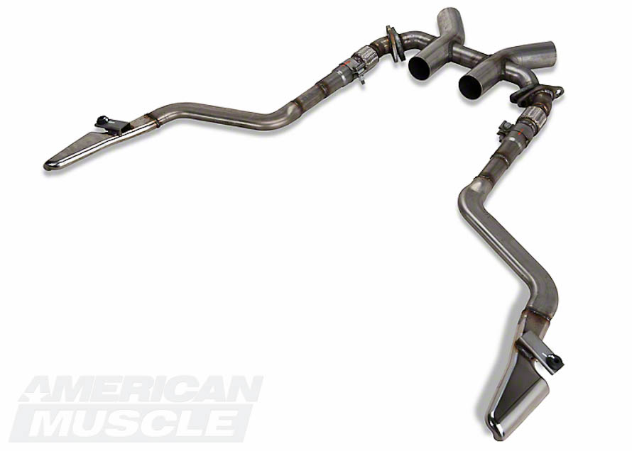 Boss Mustang Style H-Pipe and Side Exhaust for 2011-2014 GT500s