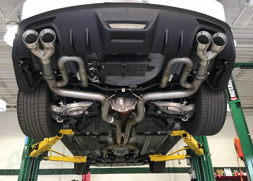 2016 Mustang V6 Exhaust >> How To Add A Quad Exhaust To Your Mustang Americanmuscle
