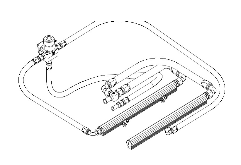 measure the required fuel line lengths needed and make up the last two  required an-08 fuel supply lines (see section titled hose and fitting  assembly)