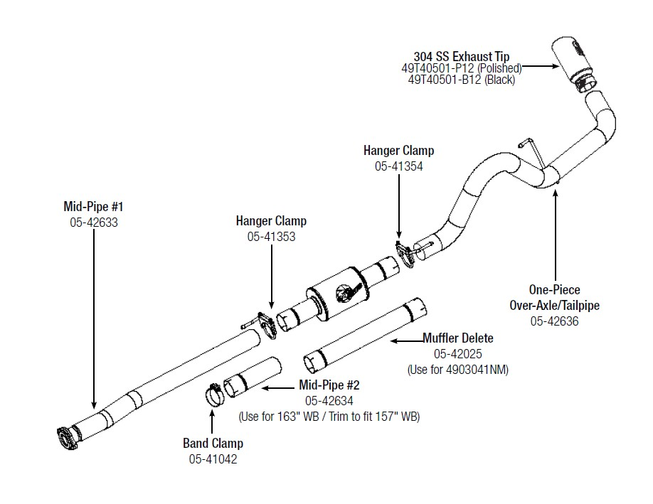 How to install afe atlas 4 in aluminized cat back exhaust system step 1 read instructions prior to installation remove your stock exhaust up to the catalytic converter from the rear of your truck working your way sciox Choice Image