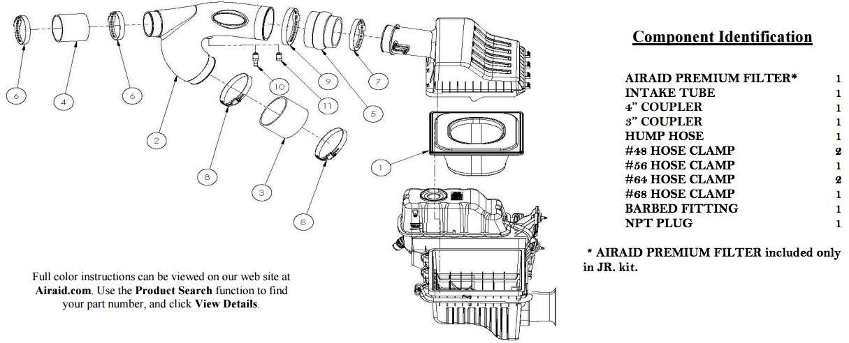 How To Install Airaid Jr Intake Tube Kit Synthaflow