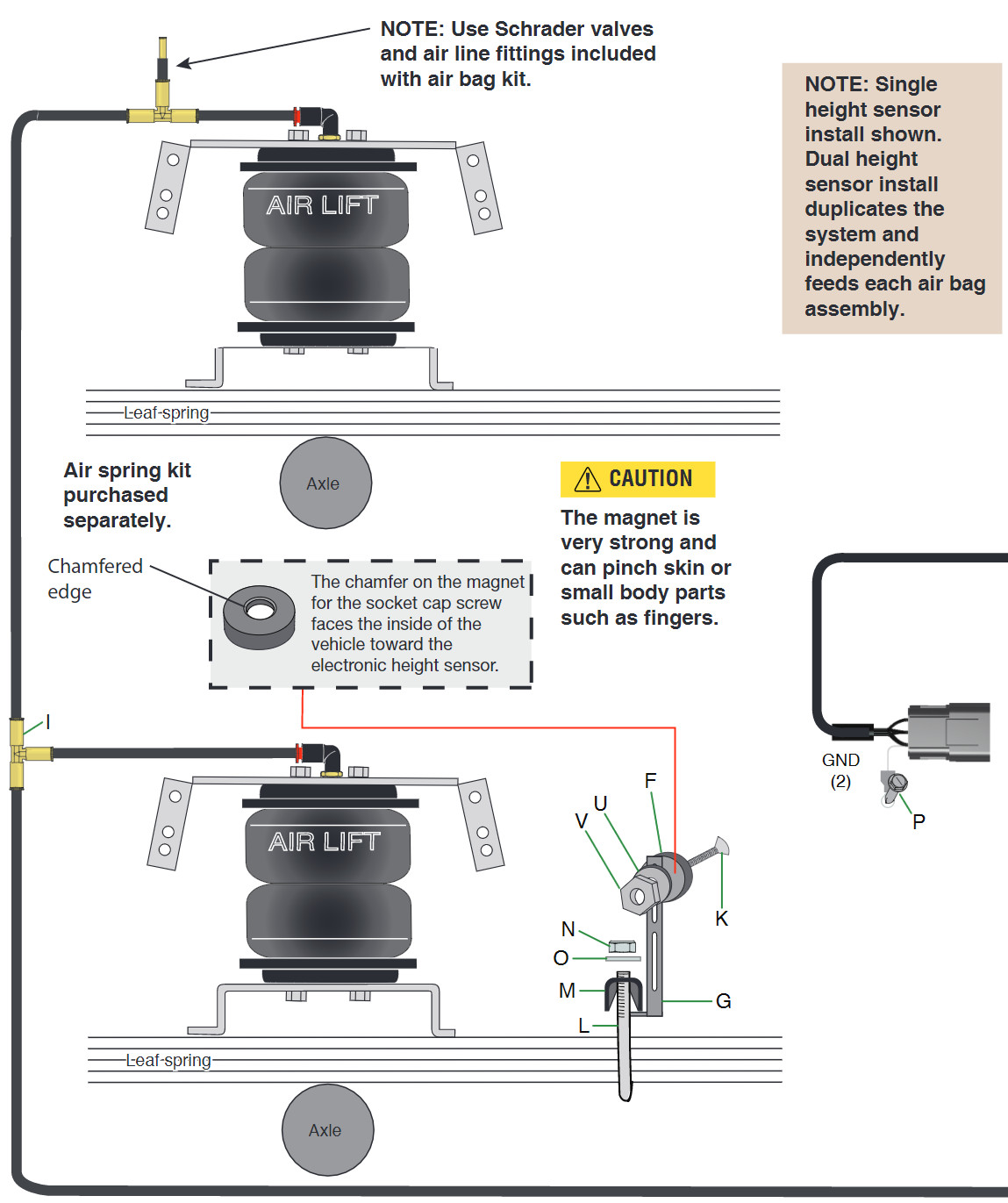 How To Install Air Lift Smartair Ii Automatic Leveling System