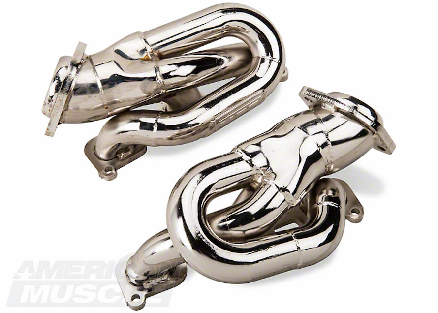 Chromed V6 Mustang Shorty Headers