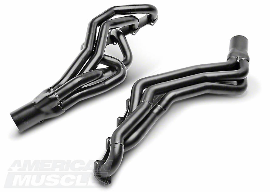 Pacesetter Black Long Tube Headers for GT Mustangs