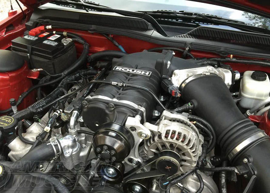 Roush Supercharger Installed on a 2005-2010 GT Mustang