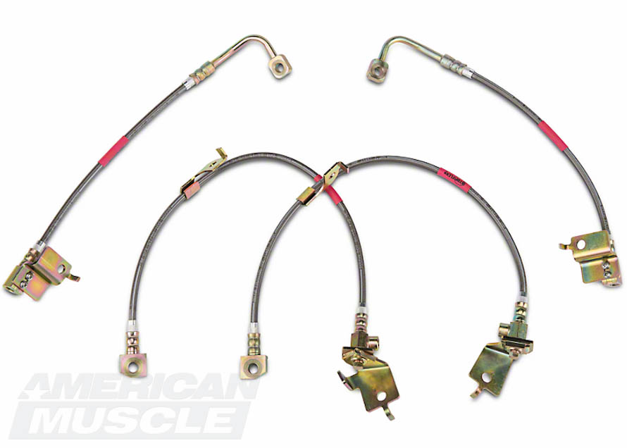 Stainless Steel Braided Brake Lines for 2015-2017 Mustangs