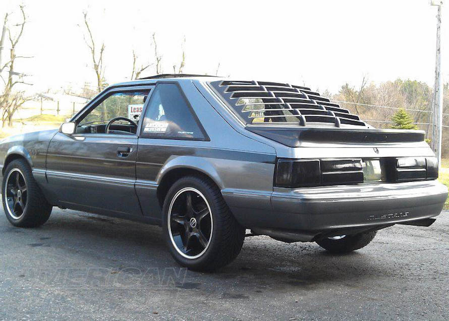 Cobra R Style Rims on a 1987-1993 Foxbody Mustang