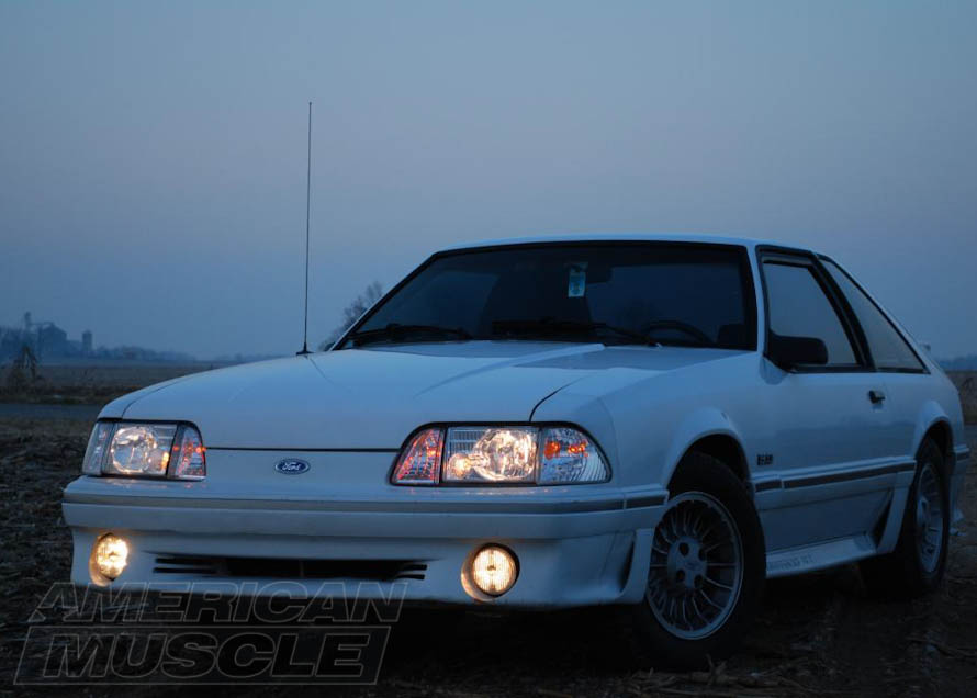 Foxbody Mustang with Axial Chrome Headlights