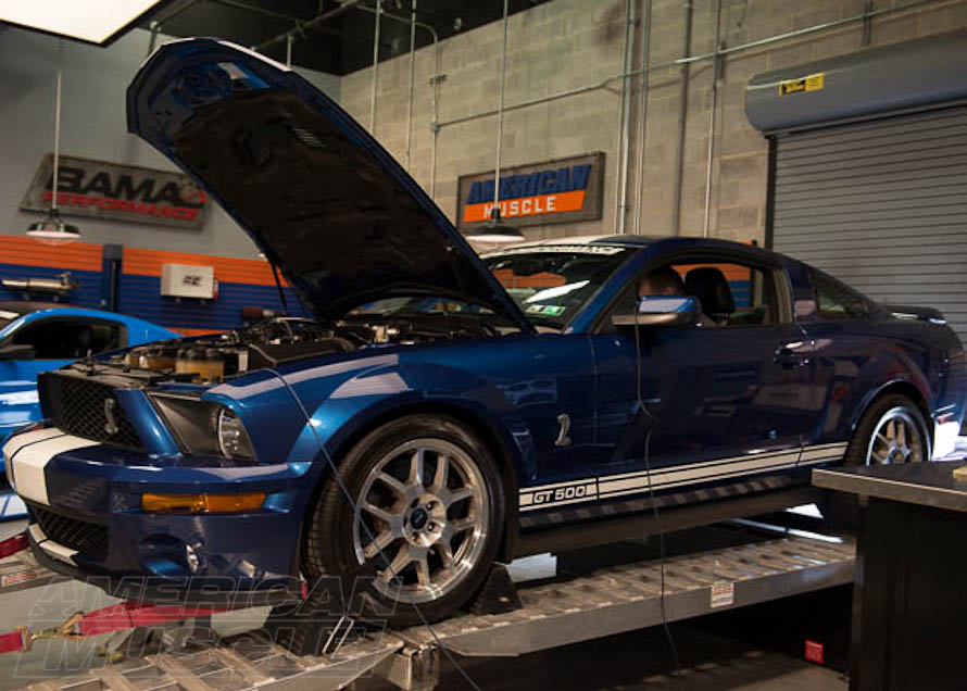 2008 GT500 Mustang on a Dyno