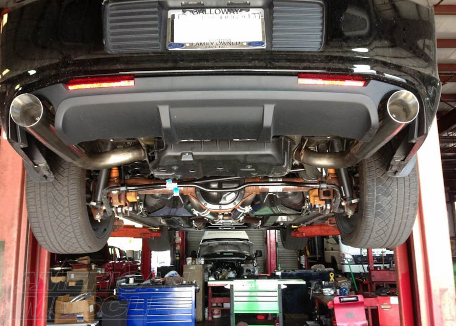 Cat-Back Exhaust System Installed on a 2011-2014 Mustang GT