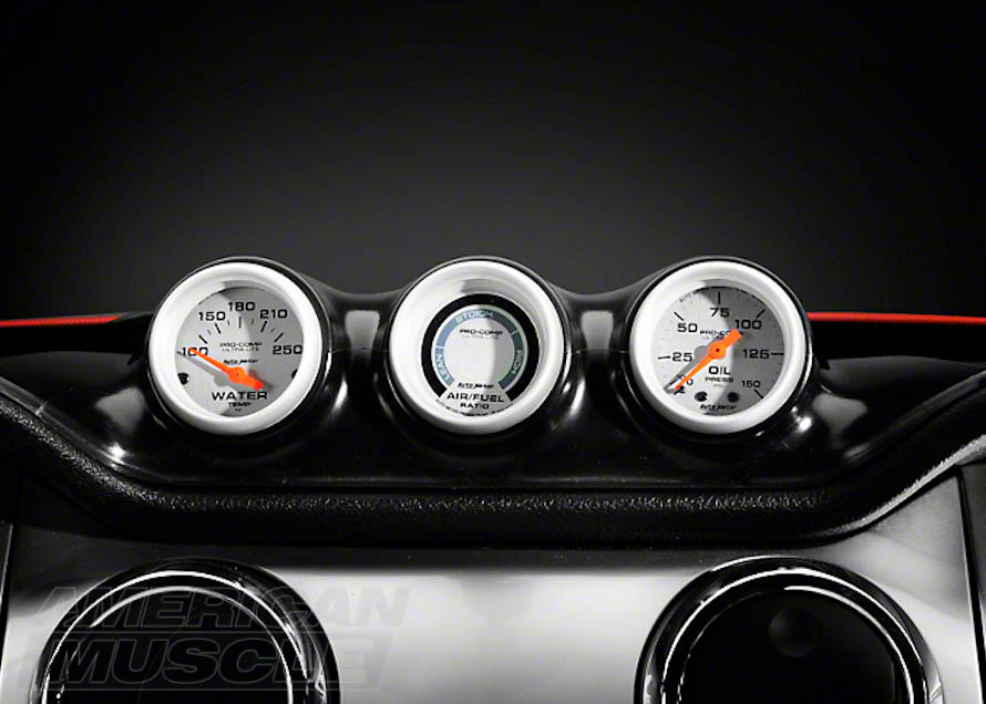 2010-2014 Mustang with Triple Dash Gauge Pod