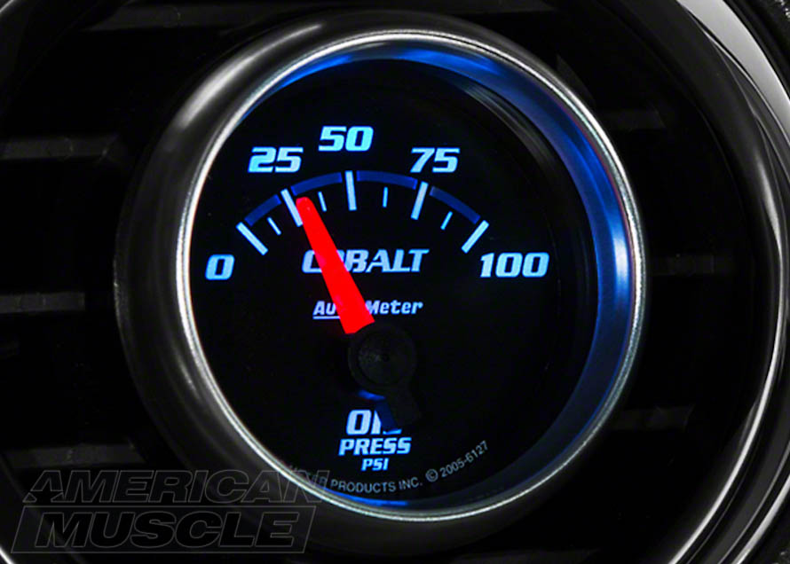 Short Sweep Mustang Oil Pressure Gauge