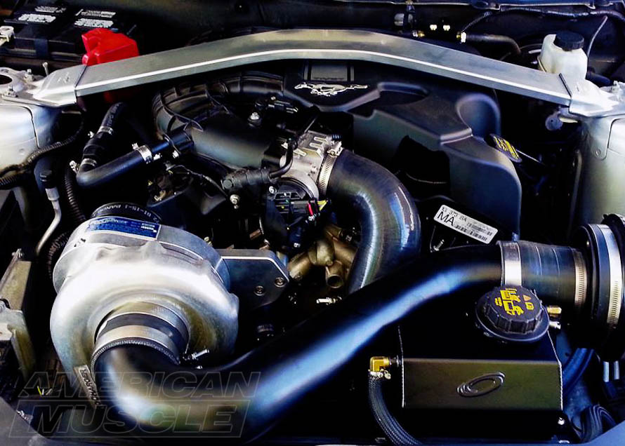 Centrigual Supercharge Installed on a 2011-2014 V6 Mustang