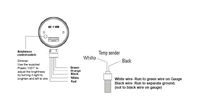 How To Install A Dual Color Digital Oil Temp Gauge  White On Your 1979