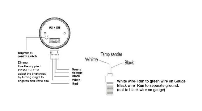 How to Install a Dual Color Digital Oil Temp Gauge ... Oil Temp Sender Wiring Diagram on