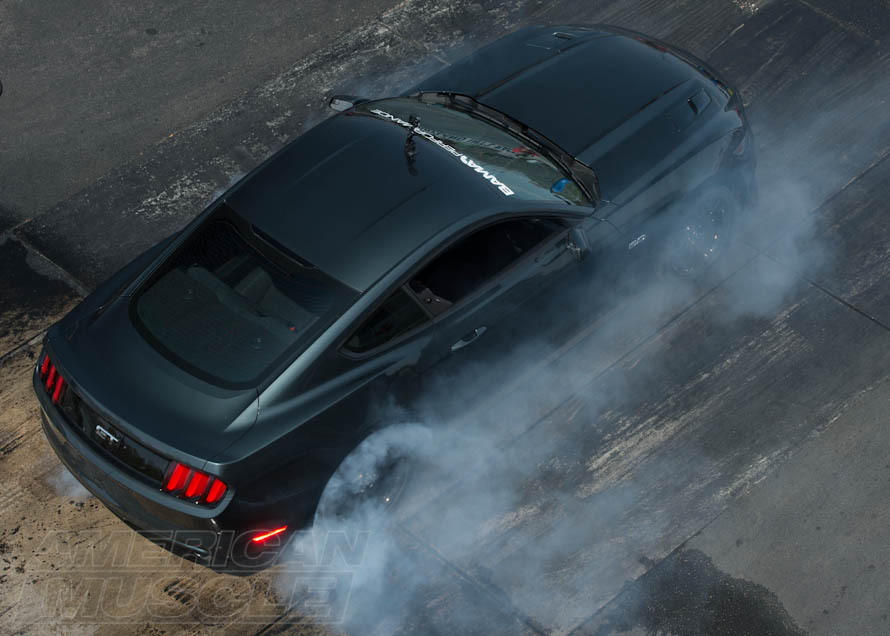 2015 BAMA Tuned Mustang Burning Rubber